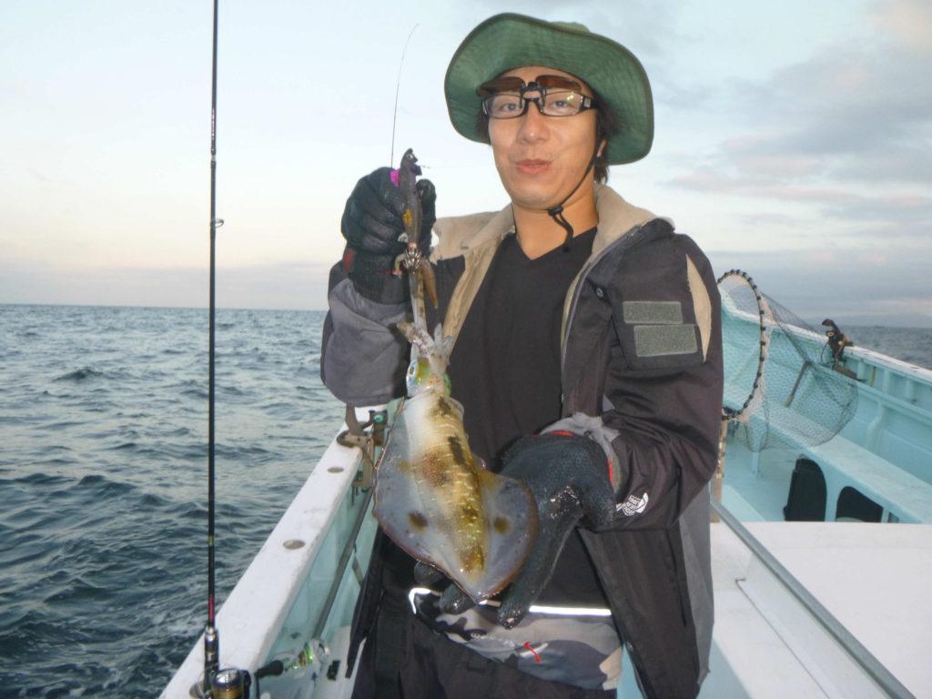 アオリイカ ティップランエギング よく釣れました