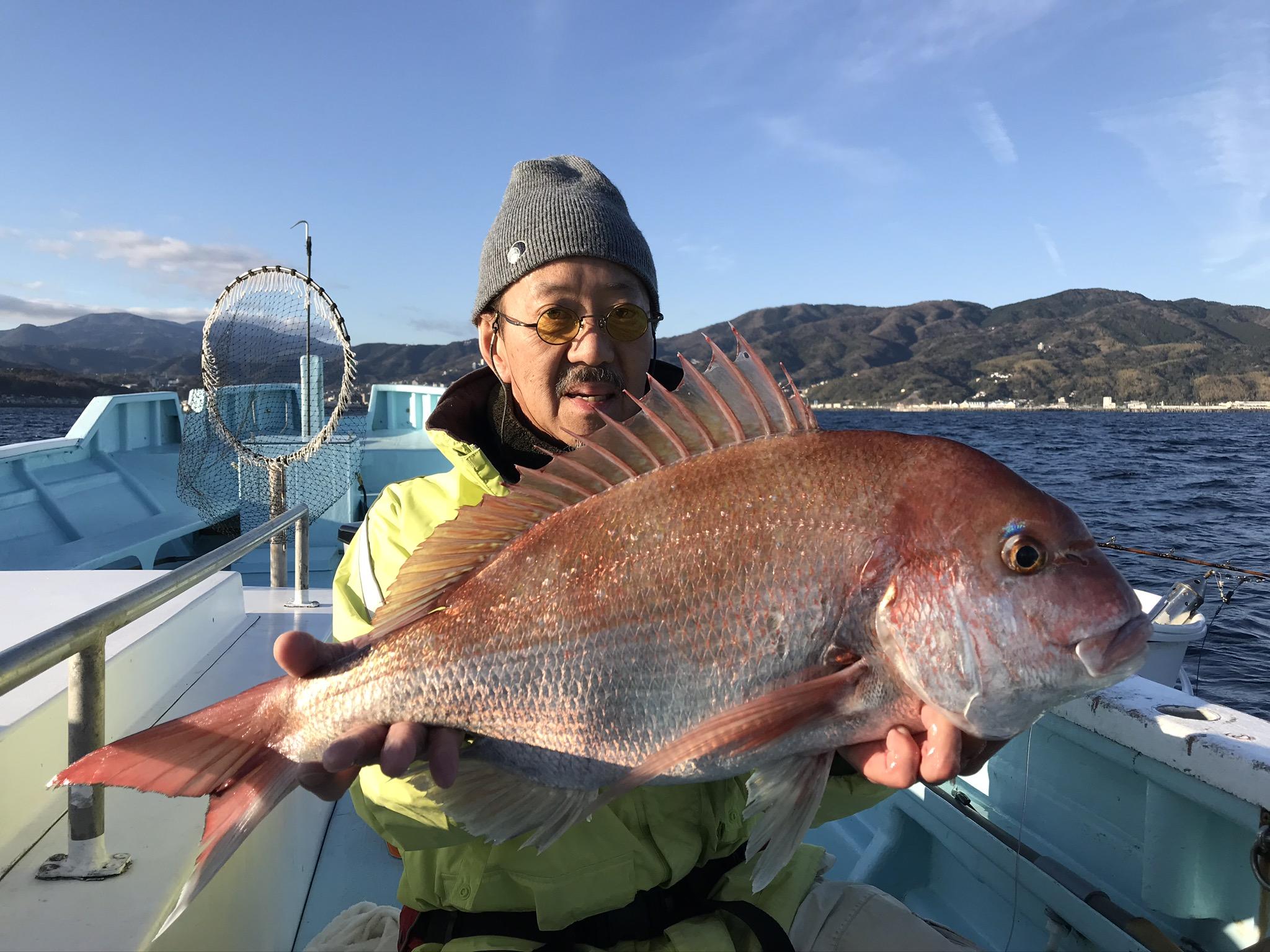 マダイ 初釣り 3.7kg