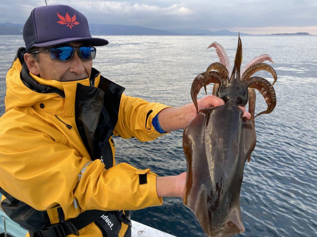 釣果2020.2.24午後船 アオリイカ 1kg