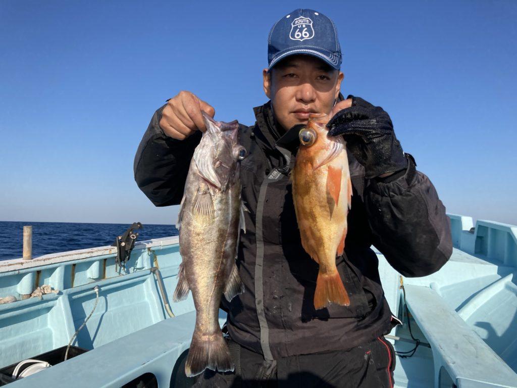 中深場根魚五目 アラと沖メバル