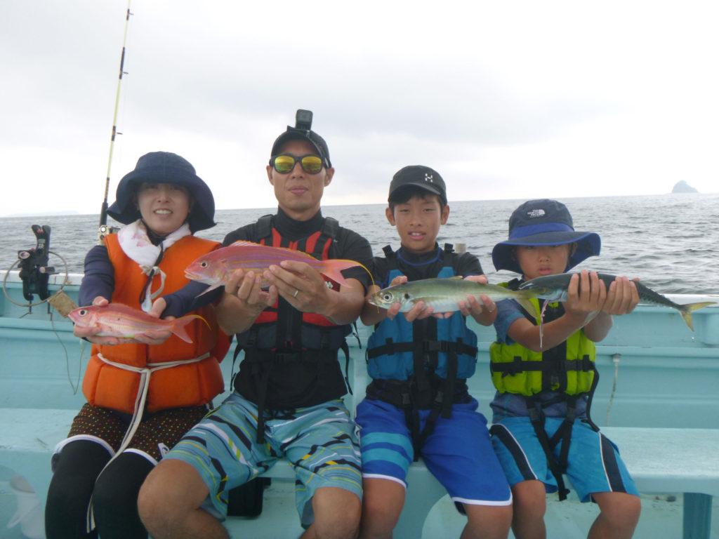 釣り教室 マダイ五目 いろいろ釣れました。